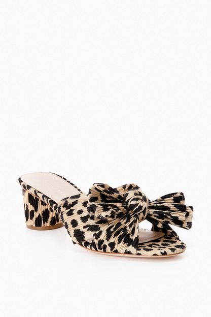 Leopard Emilia Pleated Knot Mules Take up to 30% off with code BIGSALE.