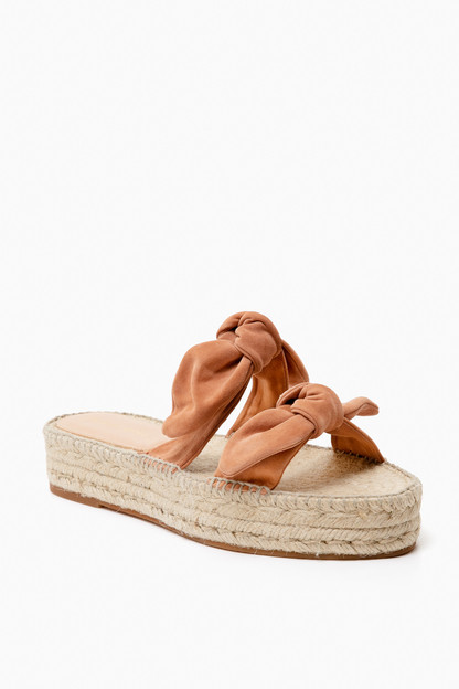 coquille two bow espadrille platform sandals