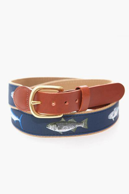 gamefish tab & buckle motif belt