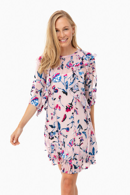 Pink Floral Delfina Dress Take an extra 30% off with code: HOORAY