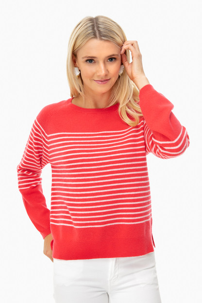 poppy french stripe crewneck