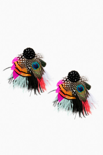 mariana feather earrings