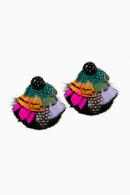 valeria feather earrings