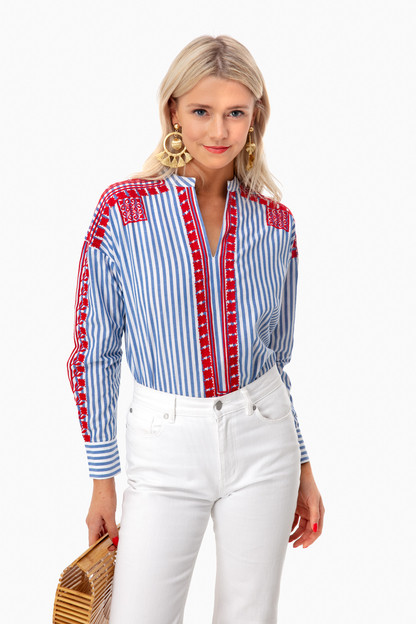 Jackie Embroidered Blouse