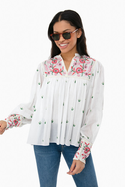 lilou embroidered blouse