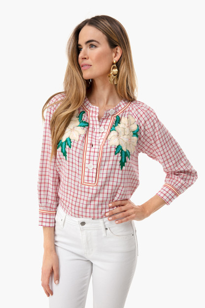 Red Tarifa Embroidered Popover