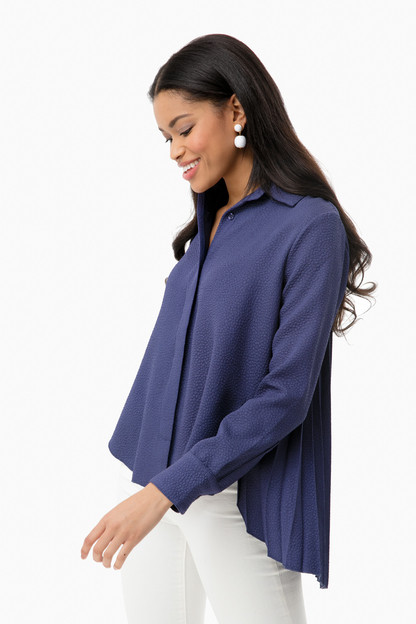 navy adele blouse