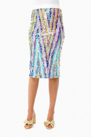 technicolor liza skirt