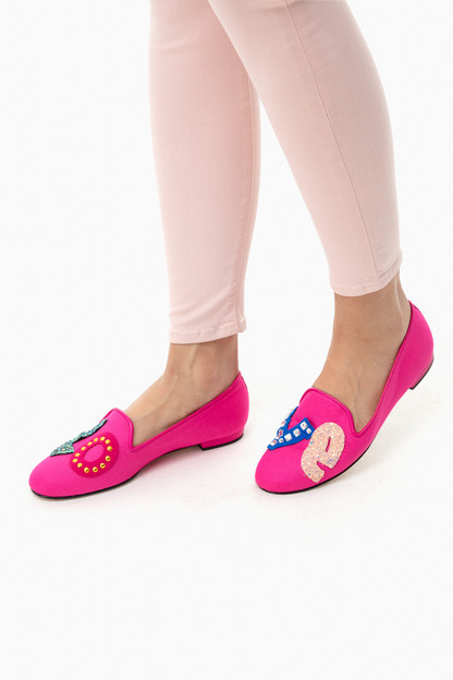 pink linen gatsby love loafers