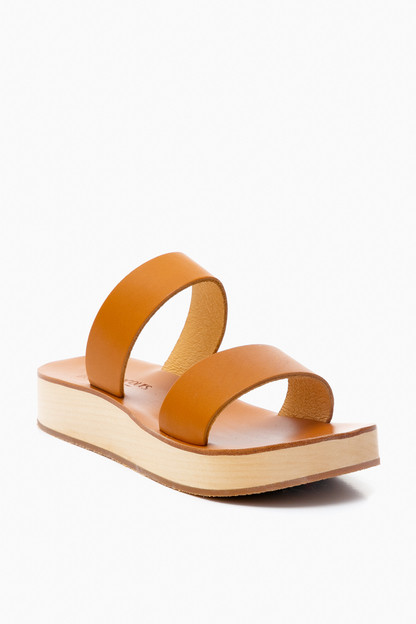 natural leather sibel platform sandal