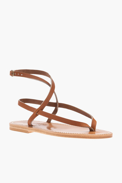 Natural Leather Delta Sandal