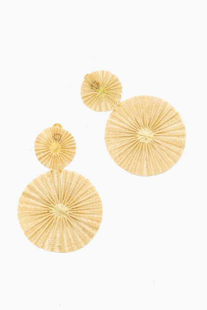 gold dos soles dorados earrings