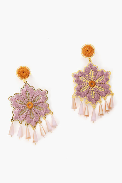pink tropics earrings