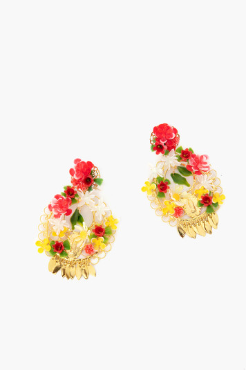 red fiesta earrings