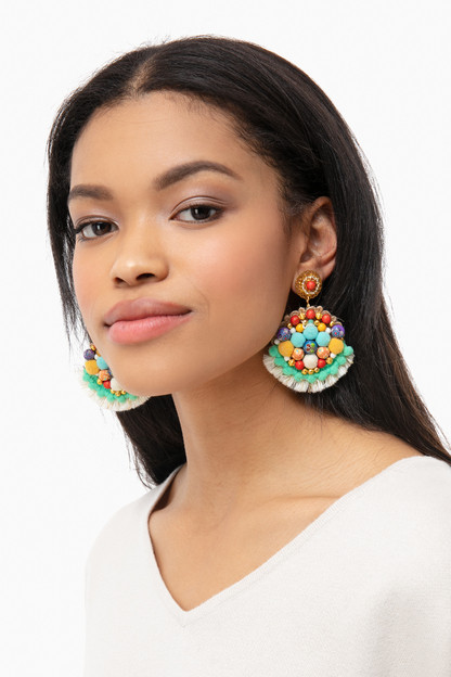 magdalena beaded tassel earrings