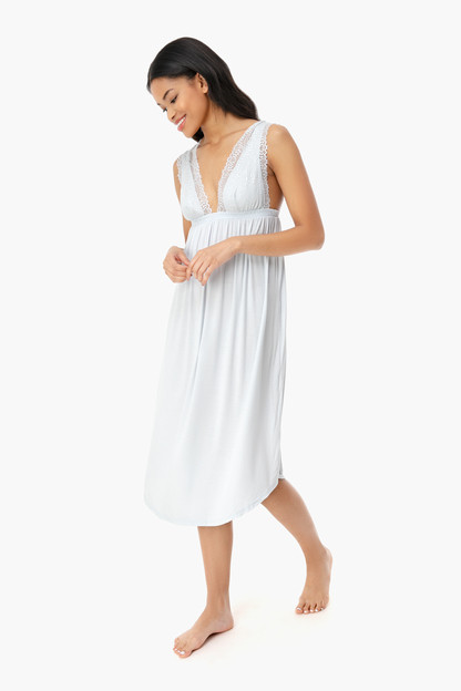 water blue sara grand nightgown