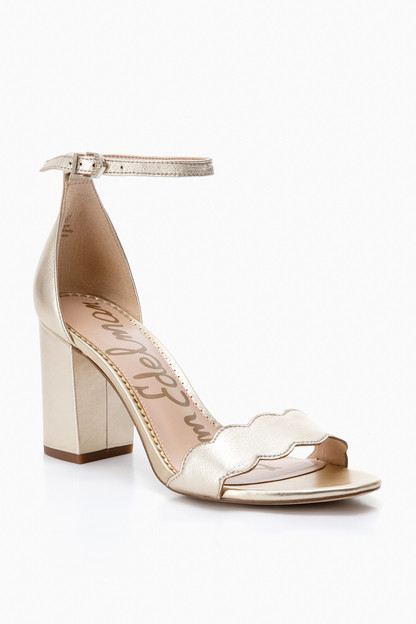 metallic leather odila heels