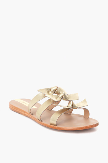 gold recife bow sandal