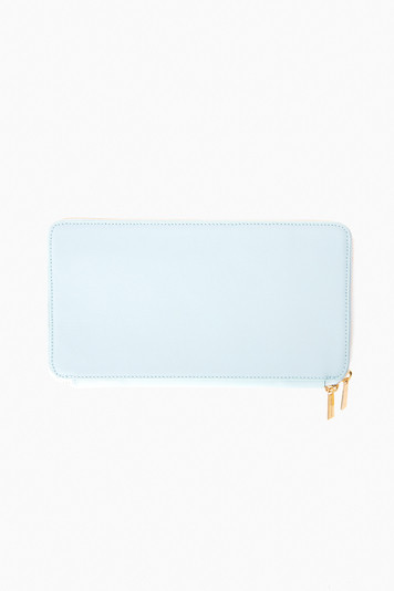 steel blue travel wallet