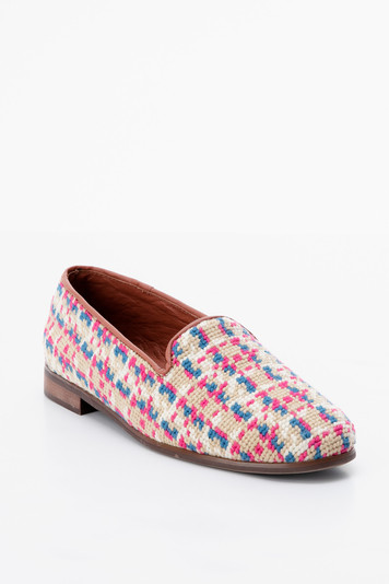 summer tweed needlepoint loafer