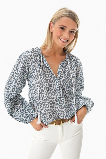 charcoal leopard bardot top
