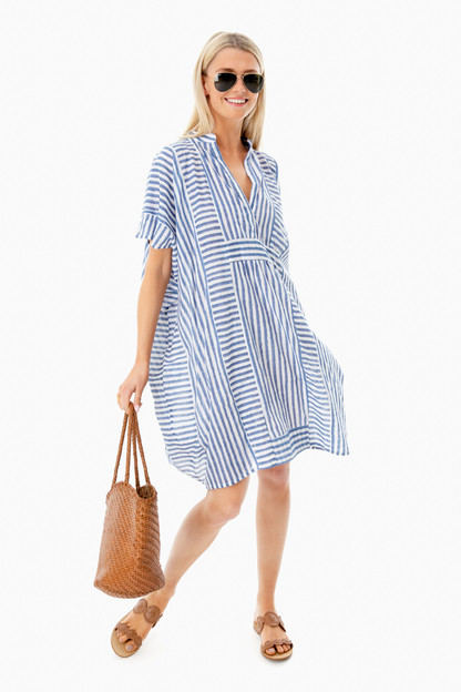 organic stripe emerson short caftan