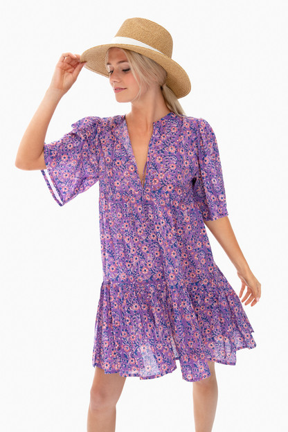 violet wildflower isla dress