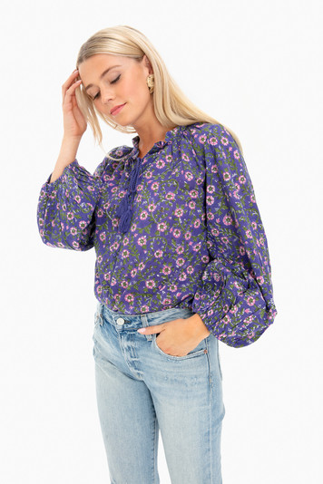 iris wildflower bardot top