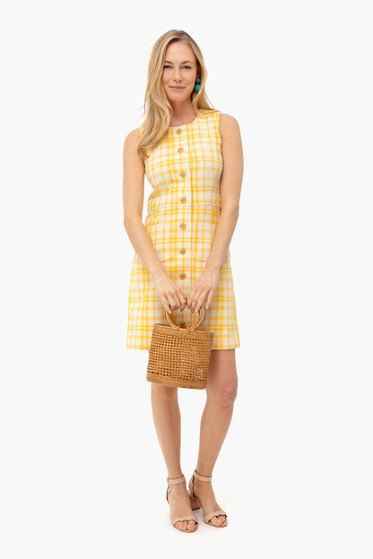 jacquard notch front shift dress