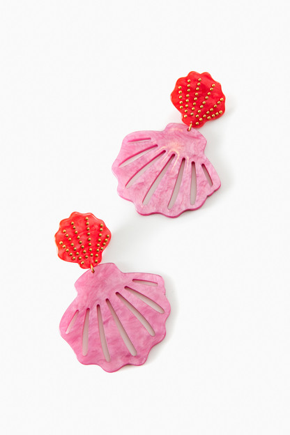rouge double mermaid earrings