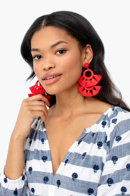 red tango earrings