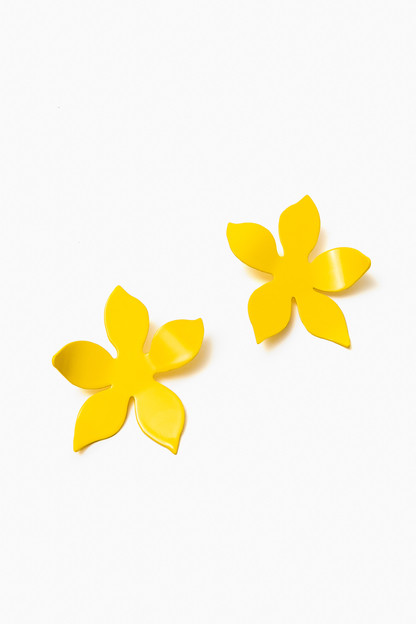 Yellow Iris Earrings