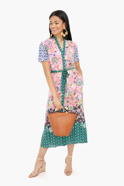 woodblock border vicki dress