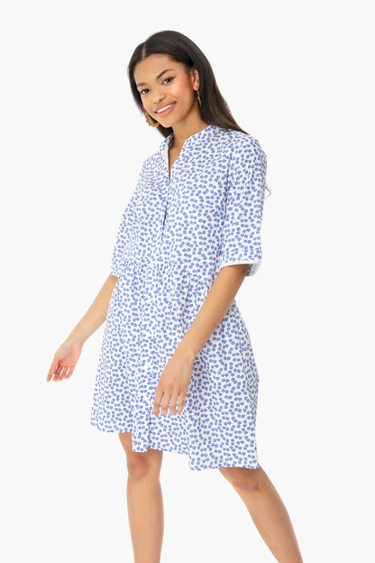 ditsy royal shirt dress