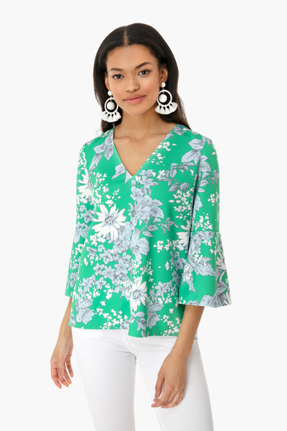 chintzy rose blouse