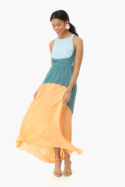 colorblock eden gown