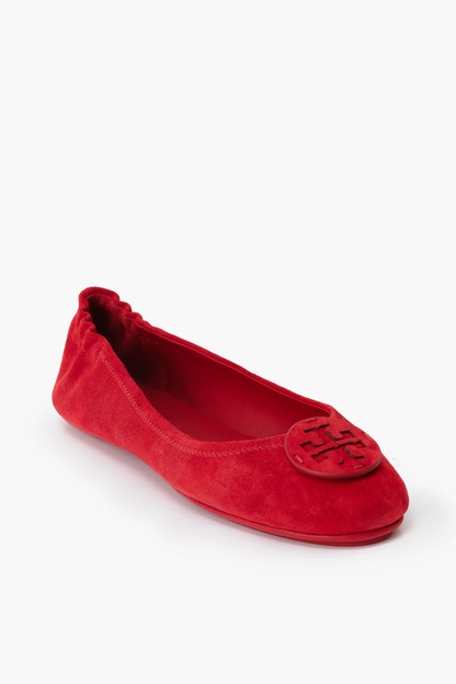 Ruby Red Minnie Travel Ballet with Leather Logo