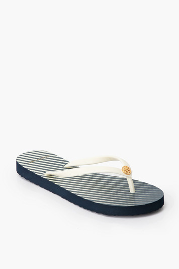 tory navy thin flip flop
