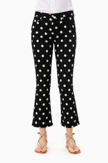 the polka dot high waist slim kick