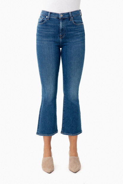 the high waist slim kick jeans