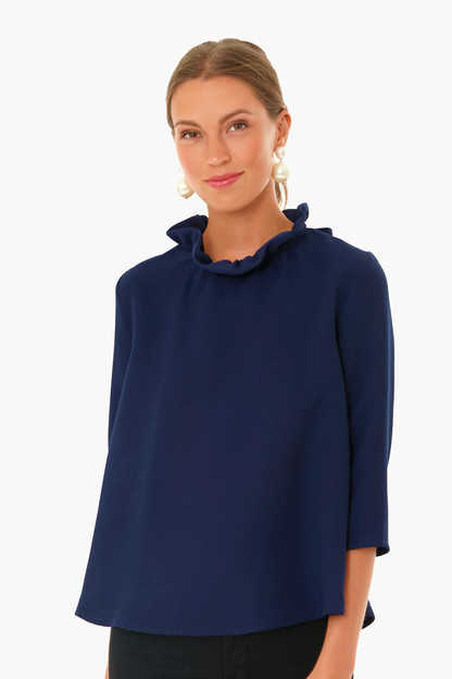 Navy Faye Blouse Take up to 30% off with code BIGSALE.