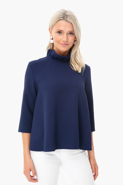 navy faye blouse