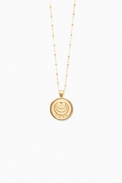 gold love small pendant