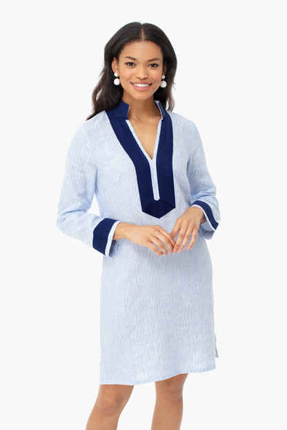 Blue Stripe Long Sleeve Classic Tunic