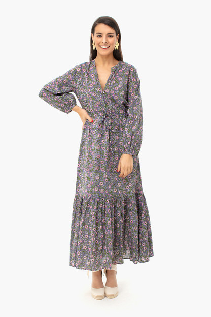 midnight wildflower frances dress