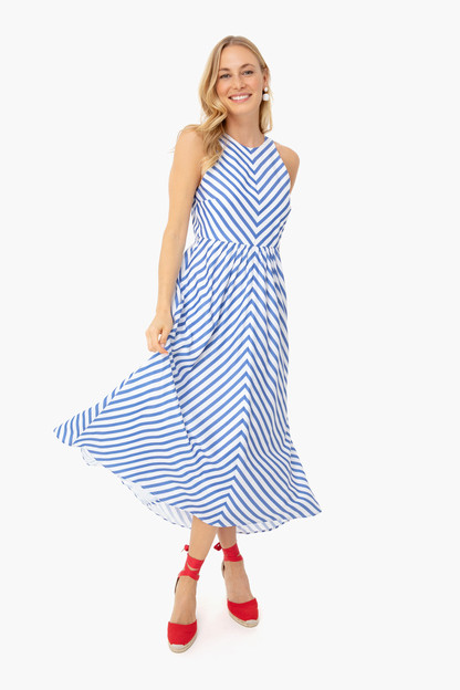 striped portofino dress