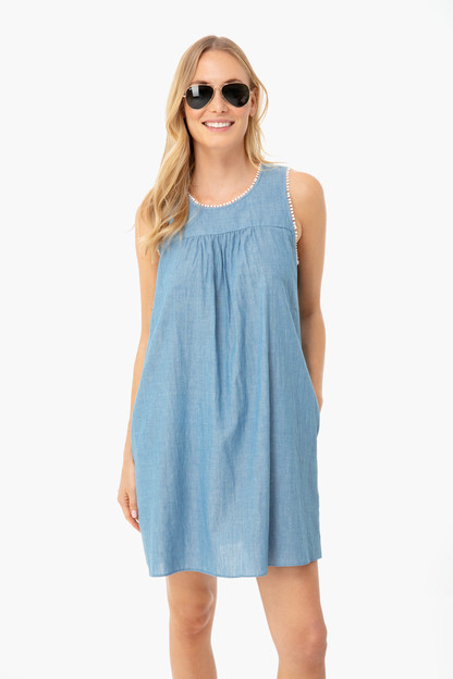 chambray amalfi dress
