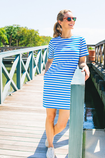 striped stella dress