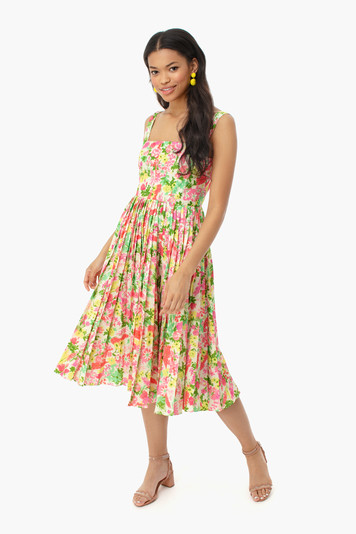 fiora pleat dress