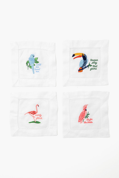 Birds of Paradise Cocktail Napkin Set